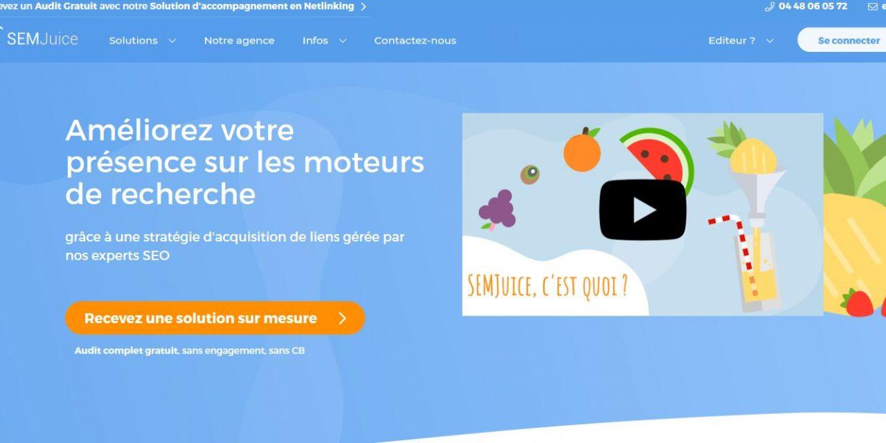 SEMjuice : la plateforme pour réussir sa campagne de netlinking